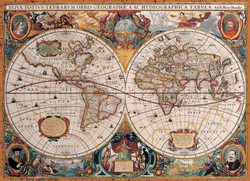 Antique World Map (Orbis Geographica), 1000pc