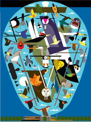 Charley Harper: We Think the World of Birds, 1000pc