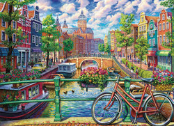 Amsterdam Canal, 1000pc