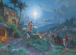 This puzzle by Cobble Hill is an especially endearing portrayal of the arrival of the Maji, or Wise Men, to the birthplace of Jesus Christ. It is very well-designed and features a nicely blended array of colors throughout.