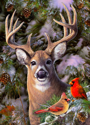 One Deer Two Cardinals, 500pc