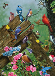 A colorful collection of some of North Americas most loved and well-known birds by Cobble Hill Puzzles.
