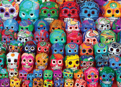 Traditional Mexican Skulls, 1000pc