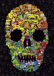 Doodle Skull, 1000pc
