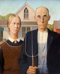 Grant Wood: American Gothic, 1000pc