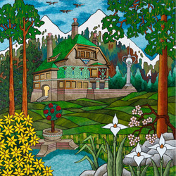 C. J. Hurley: Cliffside House in Mountains, 500pc