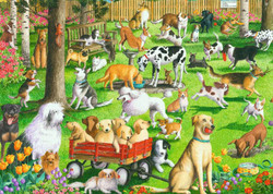 At the Dog Park, 500pc (Large Piece)