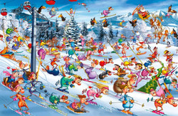 Christmas Skiing, 1000pc
