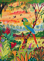 Great Green Macaws, 1000pc