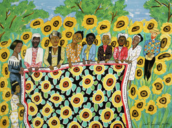 Faith Ringgold: Sunflower Quilting Bee at Arles, 1000pc