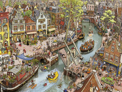 This cartoon puzzle from Heye is among the most creative and fun puzzles available today. Its huge cast of characters and many outlandish situations are sure to make for an entertaining experience for anyone choosing to build it.