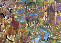This cartoon puzzle from Heye is among the most creative and fun puzzles available today. Its huge cast of characters and many outlandish situations are sure to make for an entertaining build for anyone choosing to build it.