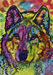 """Wolf's Soul"" is an especially fun and interesting puzzle from Heye featuring a bold design full of vibrant color and creative shapes and patterns."