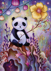 """Panda Naps"" is a delightful puzzle from Heye featuring the work of artist Jeremiah Ketner. It has a fairytale-like aspect to it that is both colorful and visually appealing, making for a very enjoyable puzzling experience."