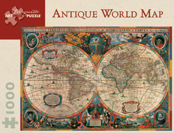 Antique World Map, 1000pc