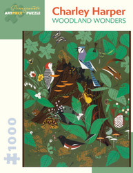 An entertaining expression of nature by artist Charley Harper featuring a variety of birds and other creatures, interacting with their environment and representing life in its many forms.