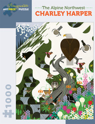 An entertaining expression of nature by artist Charley Harper featuring a masterful use of simple geometric shapes, patterns and vivid colors to represent life in its many forms.