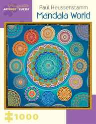 A fascinating jigsaw puzzle based on a series of mandalas, wonderfully designed and offering an amazing blend of colors, perfect for a great puzzling experience.