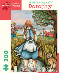 A delightful jigsaw puzzle featuring Dorothy from the Wizard of Oz, presented in a colorful and visually engaging style, perfect for any age group. A beautiful puzzle.