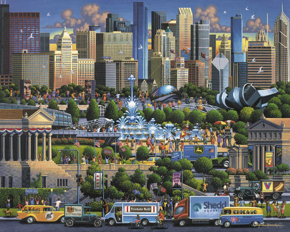 An entertaining puzzle by artist Eric Dowdle that contains many well-known sites and attractions presented in the always fun and interesting Dowdle style.