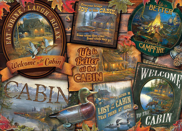 Cabin Signs, 1000pc