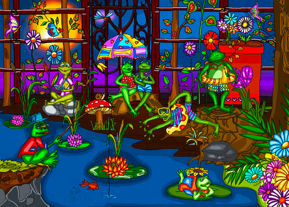 Frogs' Summer Camp, 1000pc
