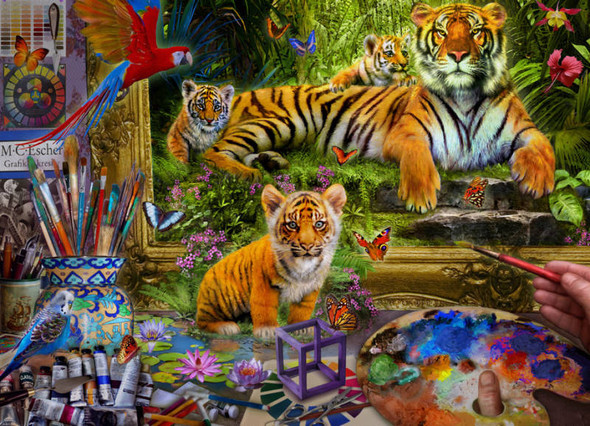 Tiger Painting, 1000pc
