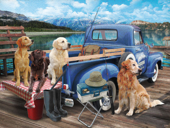 Dogs Gone Fishing, 550pc