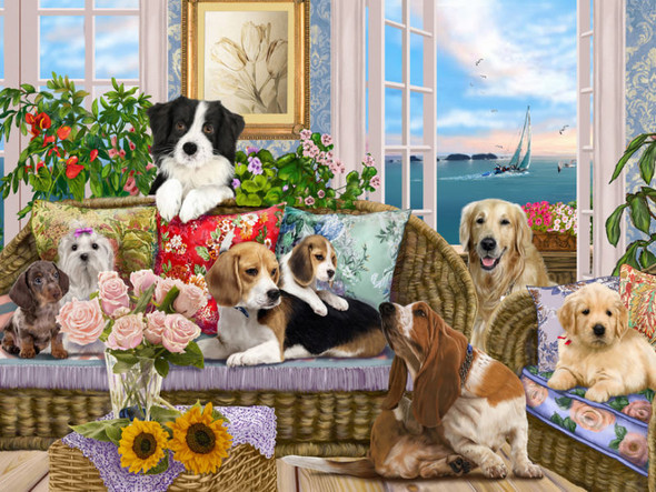 Dogs on the Sofa, 550pc