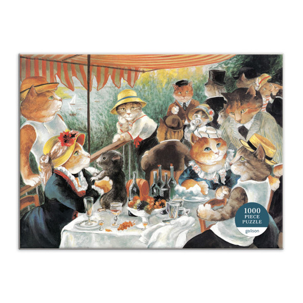 Luncheon of the Boating Party Meowsterpiece of Western Art, 1000pc