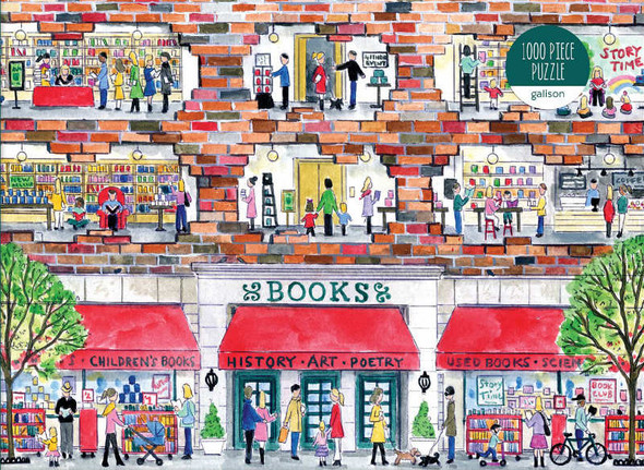 A Day at the Bookstore, 1000pc