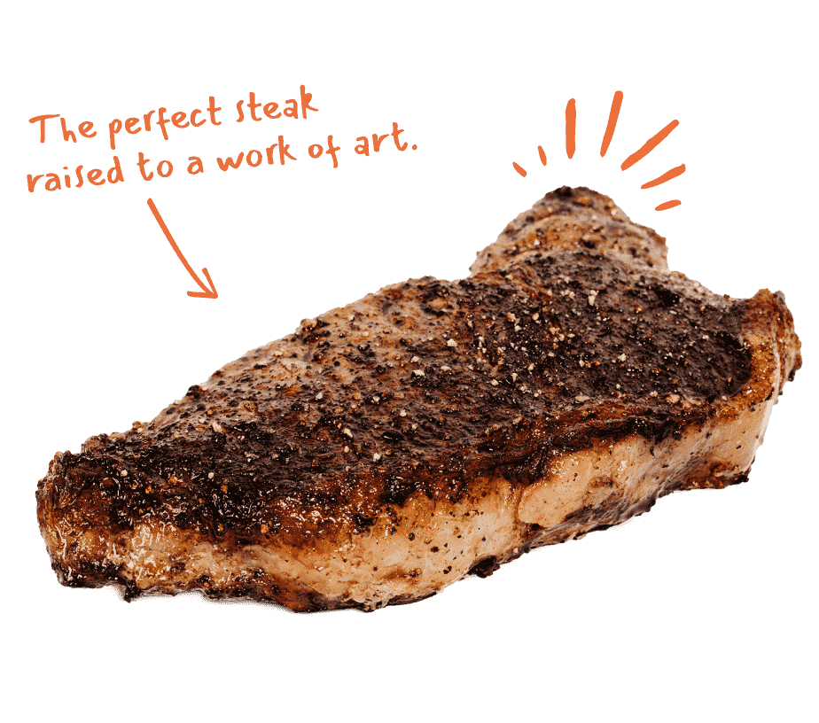 The perfect steak raised to a work of art.