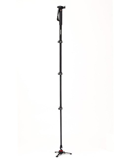 Manfrotto MVMXPROA4577 4 Section XPRO Video Monopod With Sliding Plate & Fluid Base