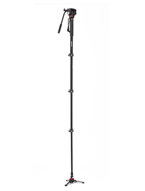 Manfrotto MVMXPROA42W 4 Section Video Monopod With 2 Way Head & FLUIDTECH Base