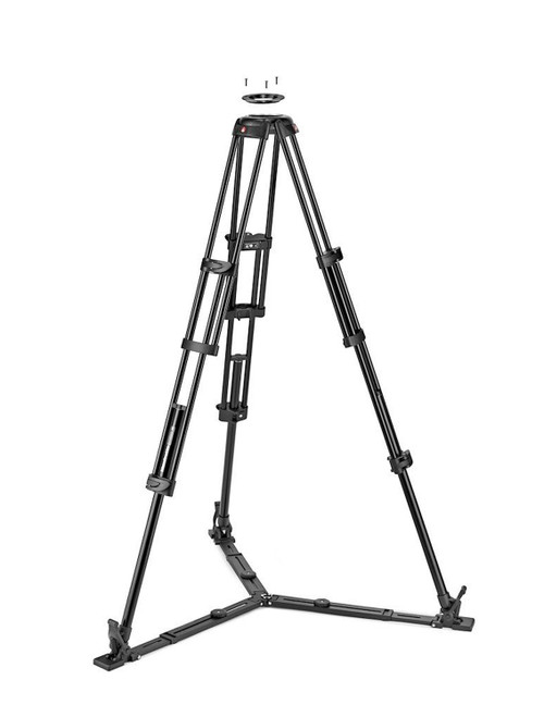 Manfrotto Aluminium Twin Tripod With Ground Spreader