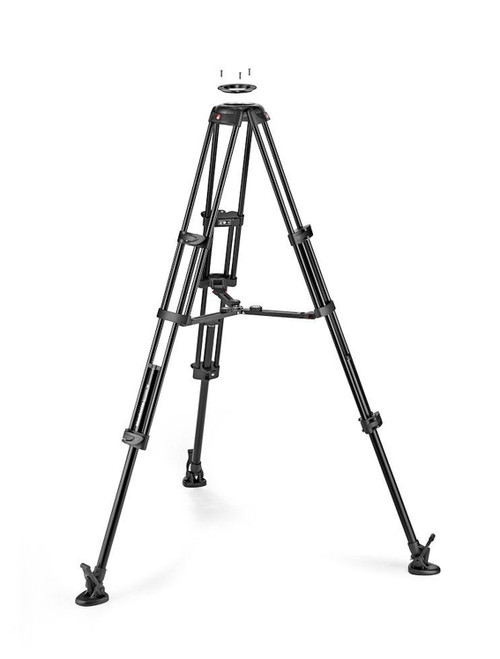 Manfrotto Aluminium Twin Tripod With Mid-Level Spreader