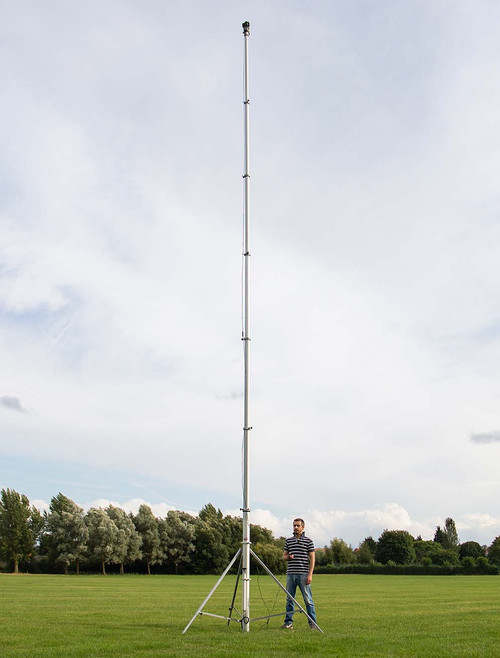 Hague 10.5m Highshot Camera Mast With Stand & 340° Powerhead Kit 1