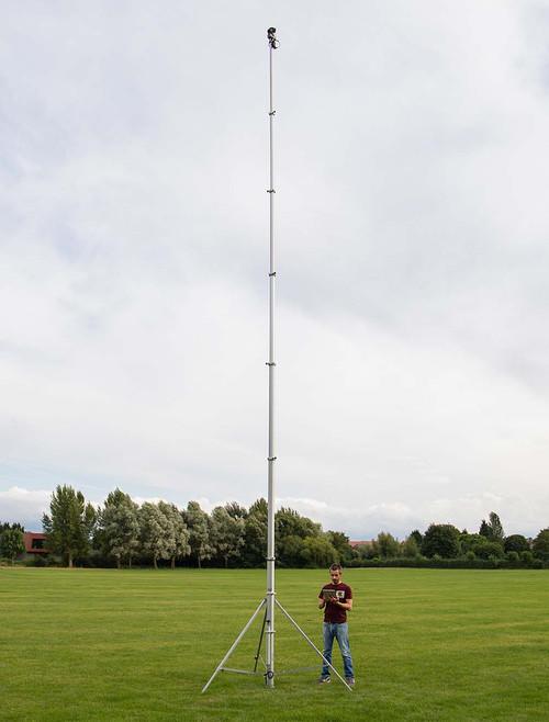 Hague 10.5m Highshot Camera Mast With Stand & 360° Powerhead Kit 2