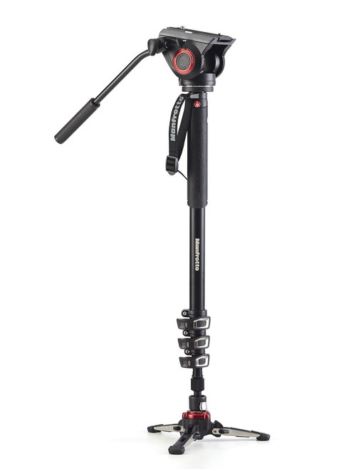 Manfrotto MVMXPRO500 Fluid Video Head Monopod with FLUIDTECH Base