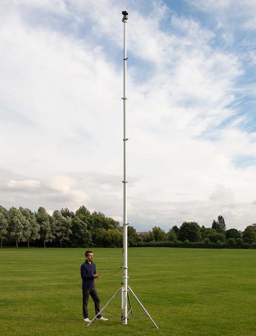 Hague 7.5m Highshot Camera Mast With Stand & 340° Powerhead Kit 1