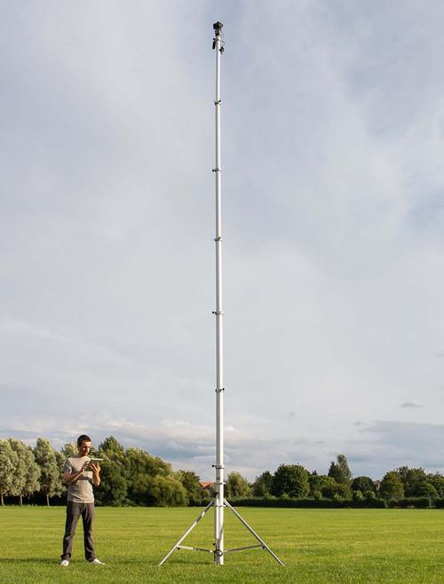 Hague 7.5m Highshot Camera Mast With Stand & 360° Powerhead Kit 2