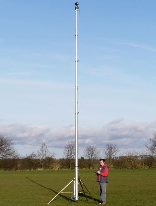 Hague 7.5m Highshot Camera Mast With Stand & PH100 Powerhead Kit 3