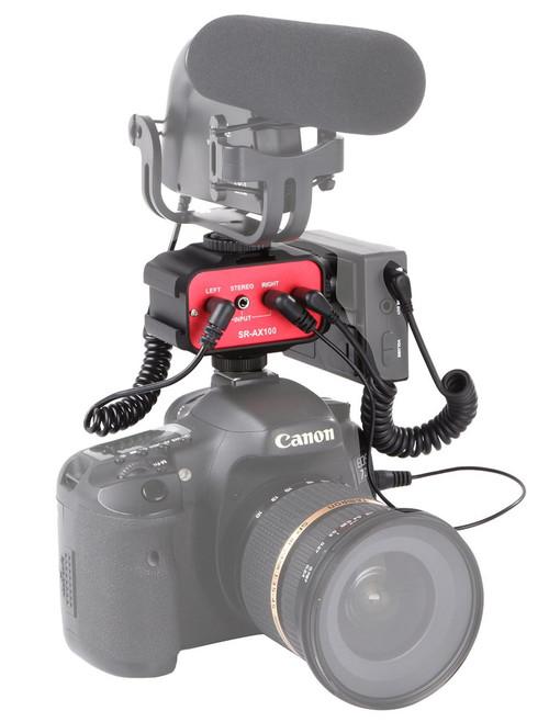 Saramonic AX100 Passive Audio Adaptor For DSLR & Camcorder