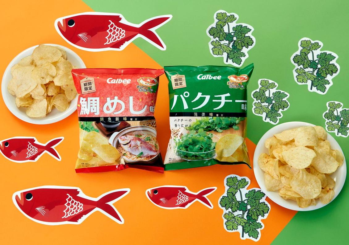 美國 MIKOPLACE.COM [全店買滿$38免運費] 現已有售 兩款期間限定之全新薯片「卡樂B鯛魚飯味薯片」及「卡樂B芫荽味薯片」