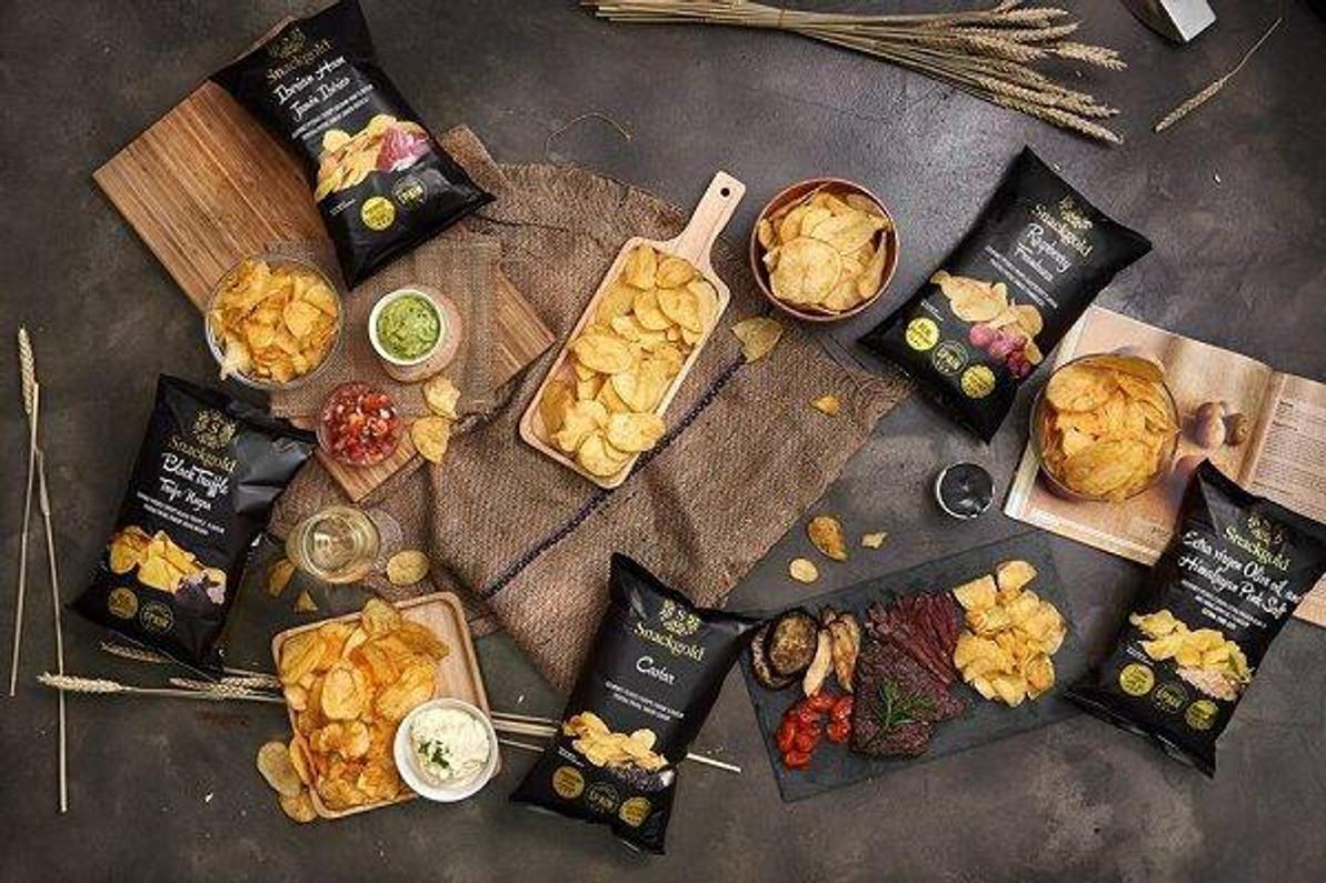 美國 MIKOPLACE.COM [全店買滿$38免運費] 薯片中的極品,西班牙Snackgold薯片三款- 最受歡迎的口味,魚子醬,黑松露和西班牙黑毛豬。