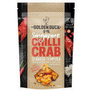 GOLDEN DUCK - Crab Tempura Crisps Chilli Flavor | 新加坡金鴨 辣蟹肉天婦羅 110g