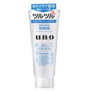 [男士專用]Uno Perfection Whip Facial Wash (Scrub) for Men 資生堂UNO潤洗顏 保濕洗面乳(藍色磨砂) 130g