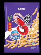 CALBEE - Prawn Crackers Shichimi | 卡樂B 蝦條辛之味 100G