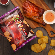 CALBEE Roasted Goose Flavored V-Cut Potato Chips | 卡樂B 深井燒鵝味厚切 V-cut 薯片 55g