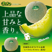 UHA Puccho Stick Candy Honeydew Melon Flavor  味覺糖 哈蜜瓜味果肉條裝軟糖 50g 10Pcs [日本限定]